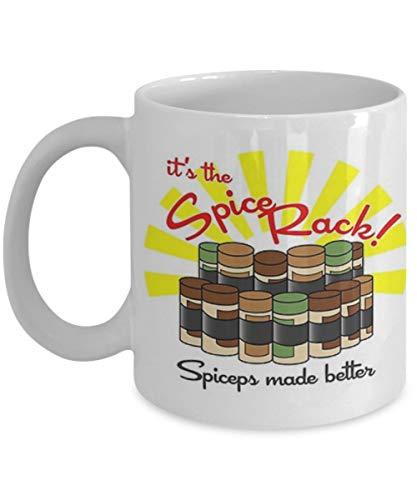 Not Applicable Das Gewürzregal - Kaffeetasse, Teetasse, lustig, Zitat, Geschenkidee für Sie oder Ihn, Frauen und Mutter, Vatertag, Schwester, Bruder, Eltern