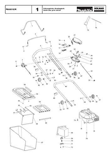 Trekveer compleet, origineel onderdeel voor Dolmar PS-4600 S, 181213023-0530