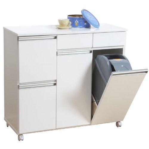 クロシオ ダイニングダストボックス4D ホワイト 幅82cm ゴミ箱 4分別ごみ箱