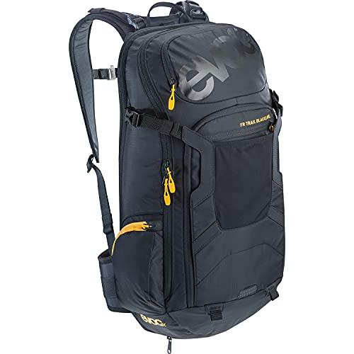 EVOC FR TRAIL BLACKLINE 20l Protektor Rucksack Backpack für Bike-Touren & Trails (LITESHIELD Rückenprotektor TÜV/GS Zertifiziert, ergonomisches LITESHIELD SYSTEM AIR), Größe M/L - Schwarz