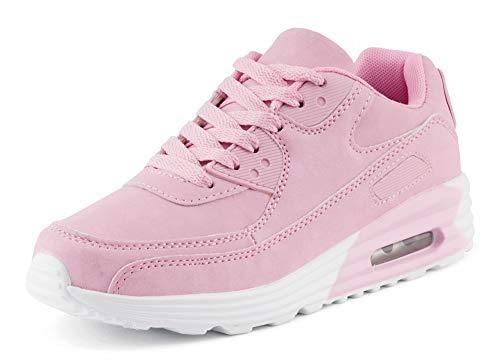 Fusskleidung Unisex Damen Herren Sportschuhe Übergrößen Laufschuhe Turnschuhe Neon Sneaker Schuhe Pink EU 40