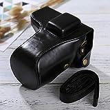 Bjhengxing Kameratasche Gute Körper-Kamera PU-Leder Tasche mit Trageriemen for Samsung NX300 (schwarz) (Farbe : Black)