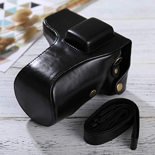 Ychaoya Camera Tas Wuzpx Goede Body Camera PU Lederen Hoesje Tas met Band voor Samsung NX300(Zwart), Zwart