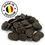 Echte Belgische Zartbitter Schokolade (1 kg) Kuvertüre Callets für Schokoladenbrunnen Fondue und alle Schokoladenrezepte