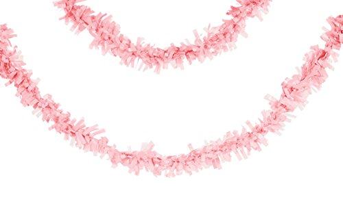 Creative Converting Tissue Fringe Garland, 25', Classic Pink