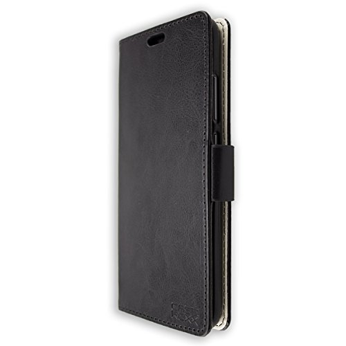 caseroxx Handy Hülle Tasche kompatibel mit Crosscall Action-X3 Bookstyle-Hülle Wallet Hülle in schwarz
