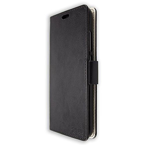 Coque pour Crosscall Action-X3, Bookstyle-Case Étui de Protection Antichoc pour Smartphone (Coque de Coloris Noir)