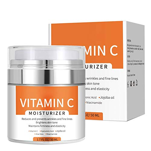 Vitaming C Cream, Vitamin C Moisturizer Face Cream,Anti-Aging Daily Facial Moisturizer Creamfor Women and Men,Reduce Appearance of Wrinkles, Fine Lines