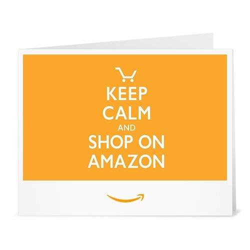 Cheque Regalo de Amazon.es - Imprimir - Keep Calm and Shop On Amazon