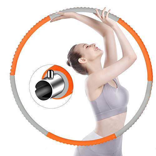 OZOY Hula Hoop Reifen, Hoola Hoop für Erwachsene & Kinder zur Gewichtsabnahme und Massage, 6 Segmente Abnehmbar Bauchformung Training Geeignet Für/zuhause/Fitness/Sport