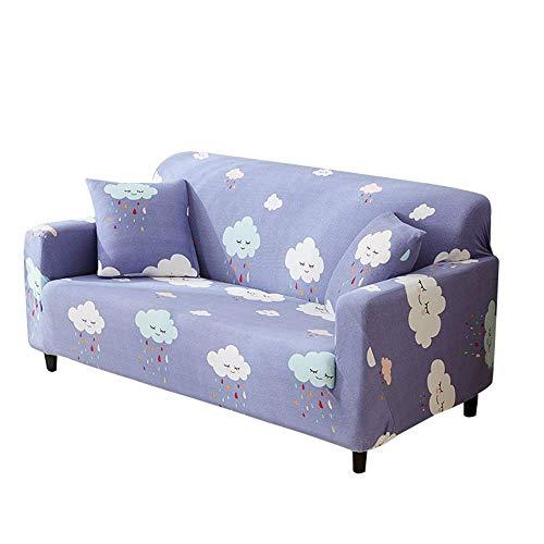 JBNJV Funda de sofá elástica, Suave, Lavable, de Alta Elasticidad, para sofá, Funda Protectora para Muebles, Fundas de sofá para 2 Cojines, Fundas de sofá para Sala de Estar