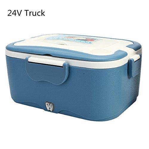 Gazar Elektrische lunchbox, 1,5 liter, 12 V/24 V, voor buiten en op reis, voor verwarming of vrachtwagen, lunchbox
