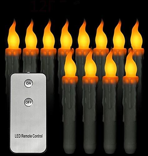 Lámparas LED sin llama Velas Talight Control remoto LED Té Luces de noche para boda Cumpleaños Fiesta de Navidad Decoración (Color : Warm White)