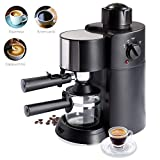 Best Choice Products 3.5 Bar 3-in-1 Coffee Maker for Cappuccino, Espresso, Latte w/Steam Wand, Washable Filter, Removable Tray, Detachable Funnel, Glass Pot