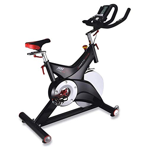 Sportstech professional Indoor Cycle SX500 with smartphone app control + Google Street View, 25KG flywheel, arm support, pulse belt compatible – Speedbike in studio quality with SPD click system