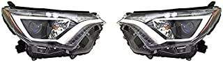 NEW HEADLIGHT PAIR FITS TOYOTA RAV4 XLE 2016-17 TO2502247 81110-0R080 811100R080