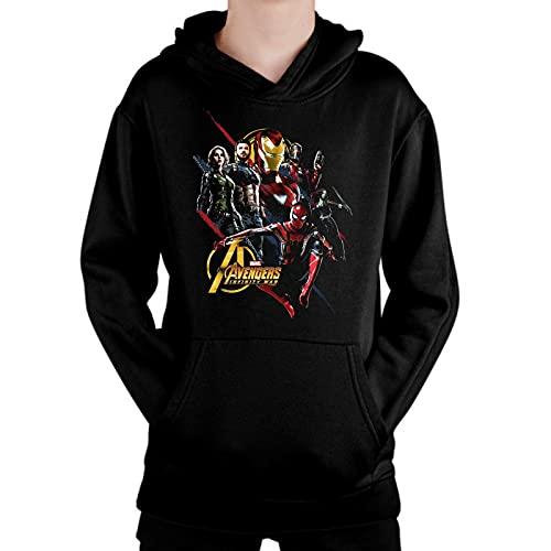 Sudadera de NIÑOS Avengers Thor Ironman Hulk America Widow 020 12-13 Años