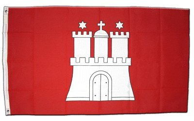 XXL Flagge Fahne Deutschland Hamburg 150 x 250 cm