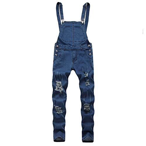 Pantalones Vaqueros para Hombre, Color sólido, Autocultivo, de Gran tamaño, Sueltos, con Lavado Salvaje, Tirantes, Monos para Primavera y otoño, piernas cómodas 3X-Large