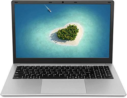 Laptop da 15,6 pollici (Intel Celeron 64 bit, 8 GB di RAM DDR4, SSD da 256 GB, batteria da 10000 mAH, webcam HD, sistema operativo Windows 10 Pro preinstallato, display IPS FHD 1920 * 1080)