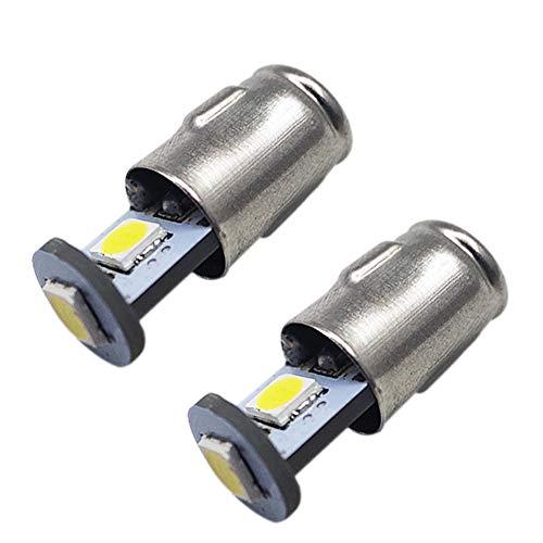 Ruiandsion 2 unids BA7S Bombillas LED 24 V Blanco 3030 3SMD Chipsets LED Bombillas reemplazo para el interior del coche instrumentos luces de advertencia