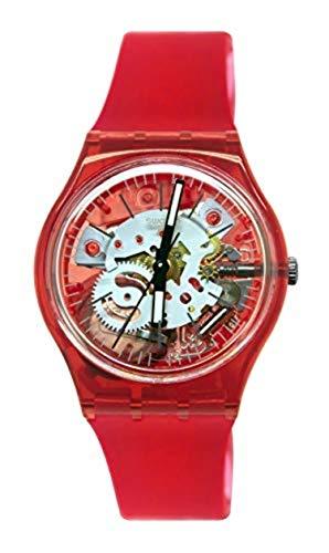 Swatch Herren Analog Quarz Uhr mit Silikon Armband GR178