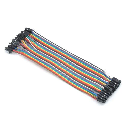 KuierShop(TM) 40Pcs 20cm 1P-1P Good Female to Female Wires Jumper Cable For Arduino Breadboard