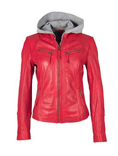 Gipsy Damen Lederjacke NOLA Größe M Rot (rot)