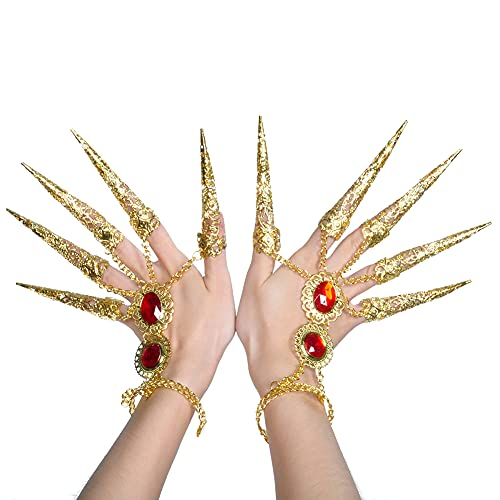 ccHuDE Women Ladies Belly Dance Gypsy Bracelets Inlaid with Acrylic Rubies Gypsy Egyptian Bracelet for Halloween Costume