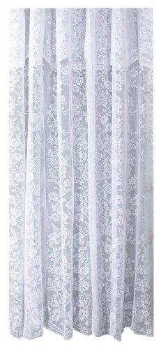 Shabby chic White lace shower curtain