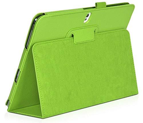 XIAOYAN Funda para Samsung Galaxy Note 2014 Edition 10.1 Soporte Plegable Funda de Cuero PU para Samsung Galaxy Tab Pro 10.1 T520 T521 T525-verde