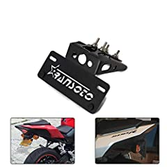 Compatible with Honda CBR500R CB500F 2016-2019 Pressed in screws for easy installation, clean underside appearance With installation instructions. Retain OE license plate light and OE turn signal lights Rubber grommet included to protect wire