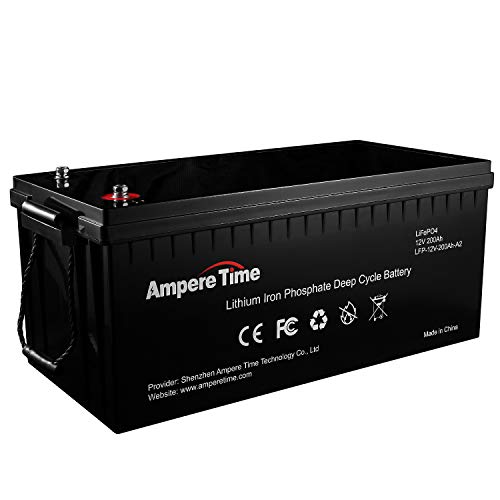 12V 200Ah Lithium Iron LiFePO4 Deep Cycle Battery, Built-in 100A BMS, 2000+ Cycles, 280amp Max, Perfect for RV, Solar, Marine, Overland, Off-Grid, Estimated Delivery Time is 3-7 Working Days