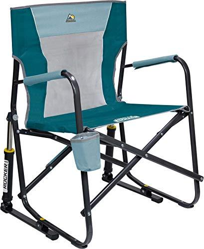 GCI Outdoor Freestyle Folding Chair Outdoor Rocking Camp Portable Lightweight Rocker Mesh Chair Sky