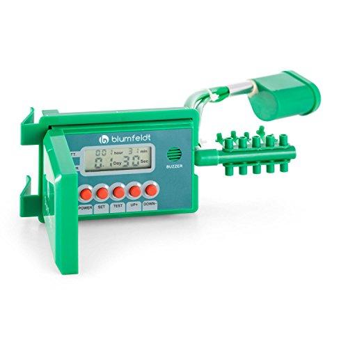 blumfeldt Aquanova - Bewässerungssystem, Bewässerungsanlage, Bewässerungsset, automatische Bewässerung, selbstansaugende Wasserpumpe, bis zu 10 Topfpflanzen, Vinylschlauch, LCD-Display, grün