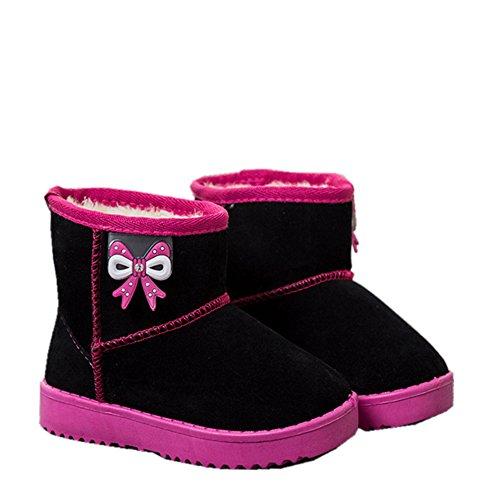 Chickwin Baby Stiefel, Baby Mädchen Stiefel Kinderschuhe Weich Und Bequem Rutschfest Warme weiche Winterschuhe Leder Schneestiefel