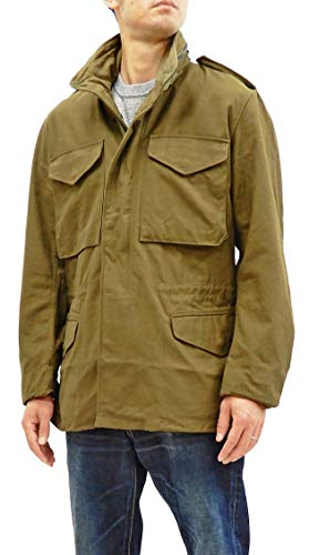 Buzz rickson's Men's M-65 Field Jacket 2nd Model M65 Military Field Coat BR11702 Tagged S (US S) Olive Drab