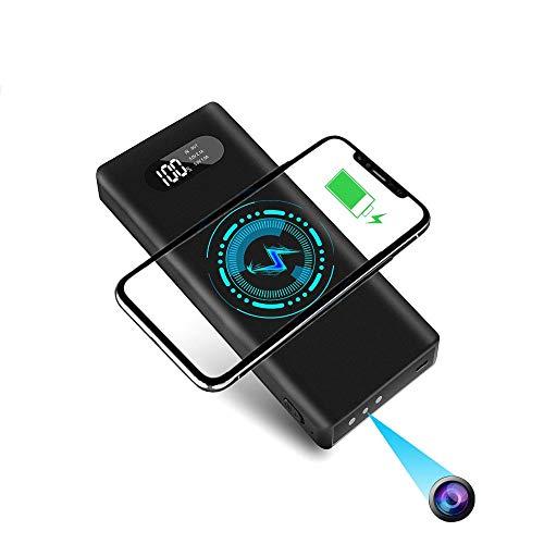 Mini Kamera mit 32G SD-Karte YYLUUT 1080P Tragbare Kleine Überwachungskameras 10000mAh Powerbank Kamera mit Nachtsicht Bewegungserkennung Nanny-Videokamera Schwerkraftsensor Loop-Aufnahme