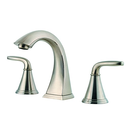 Pfister LF049PDKK Pasadena 2 Handle 8 Inch Widespread Bathroom Faucet in Brushed Nickel