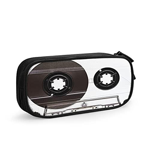 Cinta de casete de audio Estuche Escolar Multifuncional Estuche De Lápices De Gran Capacidad para Hombre Mujer Estudiante En Escuela Oficina para Niñas Niños