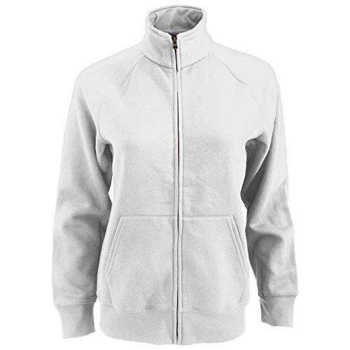 Premium Sweatjacke Lady-Fit - Farbe: White - Größe: XXL