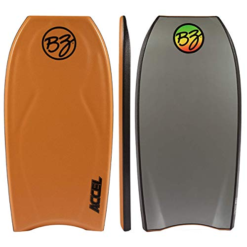 BZ Accel Pro Board Crescent Tail, Slick Bulbs, Contoured Deck Cutting Edge, High Performance (Orange, 42)