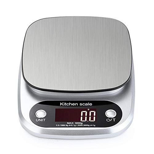 10 kg / 1g LCD Elektronische Keukenweegschaal Huishoudelijke Balans Koken Maatregel Tool Rvs Digitale Weegschaal Voedsel weegschaal g OZ ML 3KG x 0.1G