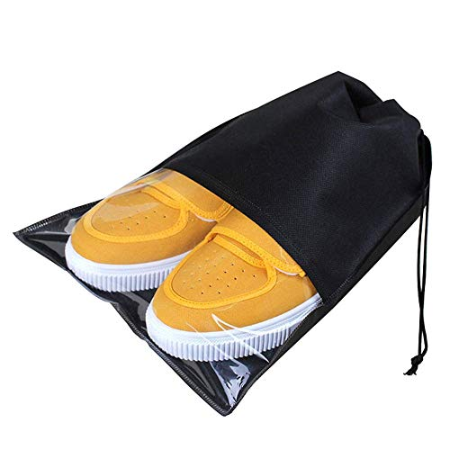 Viaje Zapatos Bolsa Portátil Cordón No Tejido Zapatos Bolsas Almacenaje con Transparente...