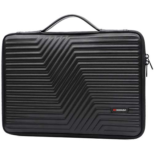 DOMISO 13.3 inch Protective Laptop Case Sleeve Shockproof Waterproof Soft EVA Bag for 13-13.3 inch Notebooks/13 MacBook Air/MacBook Pro Retina/Dell Inspiron 13 XPS 13/ASUS/HP, Black
