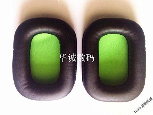 Meijunter 1 Pair Ersatz Schwarz Ohrpolster Ohr Polster Cushions Part für MADCATZ Tritton Kunai Headsets