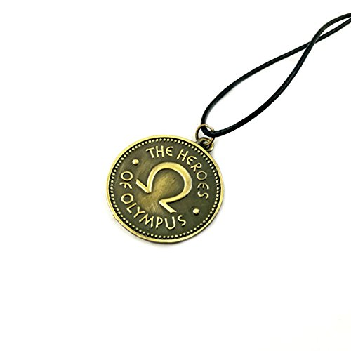 Percy Jackson Logo-Halskette mit Anhänger mit Geschenk-Box, Spiel, Film, Comics, Superhelden-Logos, Premium-Qualität, Cosplay-Schmuck, Geschenk-Serie von Superheroes Brand