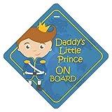 CVANU Daddy's Little Prince ON Board Safty Windows Car Sticker (Pack of 2) CV-94
