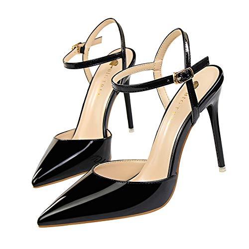 Mujer Moda Zapatos De Tacón de Aguja Charol Puntiagudo Punta Cerrada Diseño...