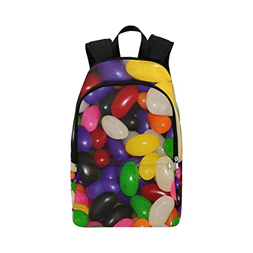 Neceser de Viaje para Mujer Jelly Beans Caramelo Azúcar Dulces Verde Morado Rojo Durable Resistente al Agua Mochilas clásicas Frescas Mochilas para niñas Mochilas Colgantes para ma